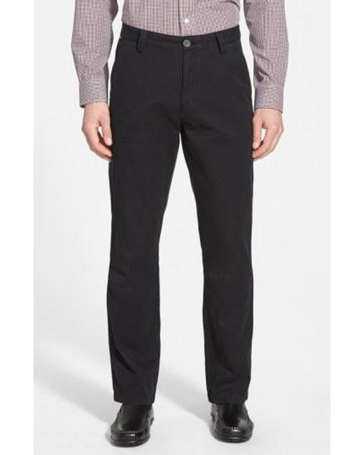 Cutter & Buck - Black 'beckett' Straight Leg Washed Cotton Pants for Men - Lyst