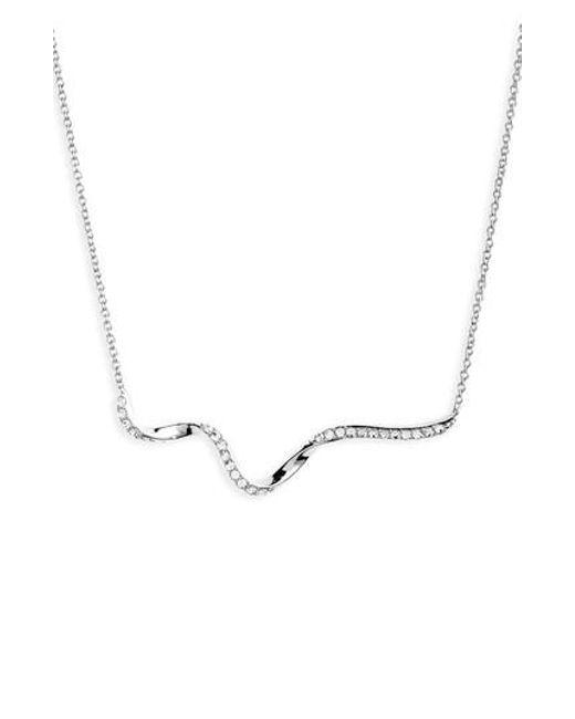 Nadri | Metallic Citron Frontal Necklace | Lyst