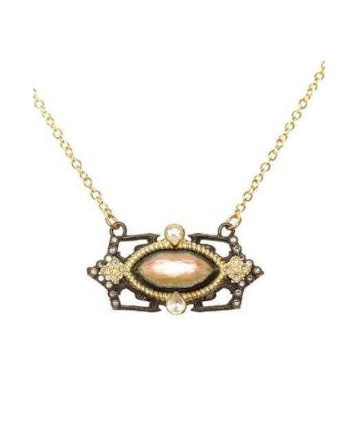 Armenta | Black Old World Marquis Diamond Pendant Necklace | Lyst