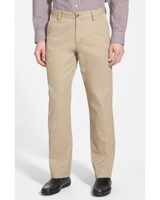 Cutter & Buck | Brown 'beckett' Straight Leg Washed Cotton Pants for Men | Lyst