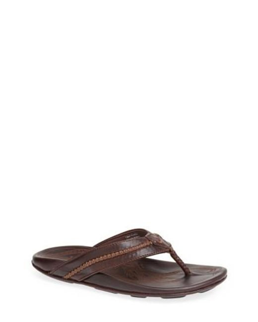 Olukai | Brown 'mea Ola' Flip Flop for Men | Lyst