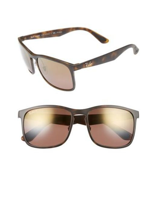 c07f23903cd Ray-Ban 58mm Chromance Sunglasses - in Brown for Men - Lyst