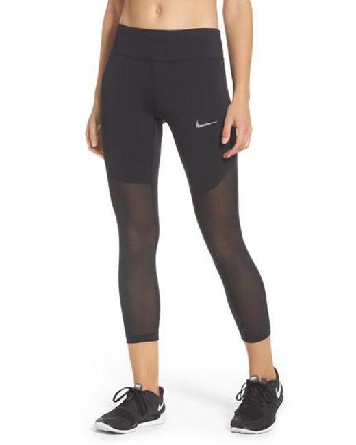 Nike   Black Power Epic Crop Tights   Lyst