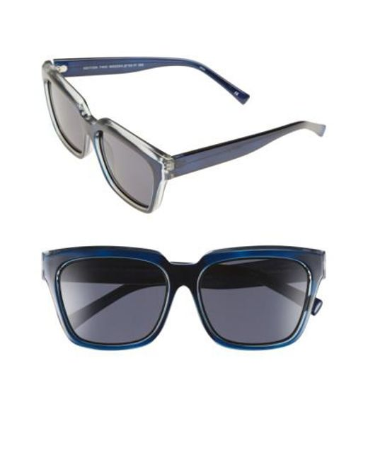 Le Specs   'edition Two' 55mm Sunglasses - Navy/ Grey/ Black   Lyst