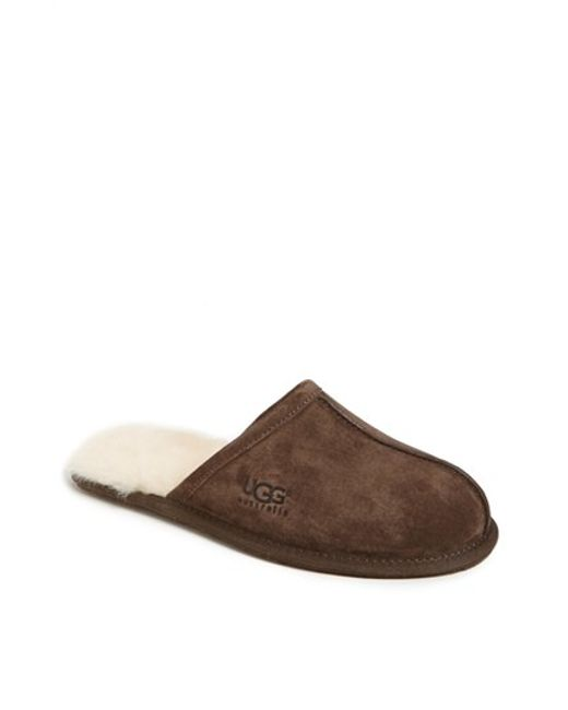 Ugg | Brown Ugg Scuff Slipper for Men | Lyst