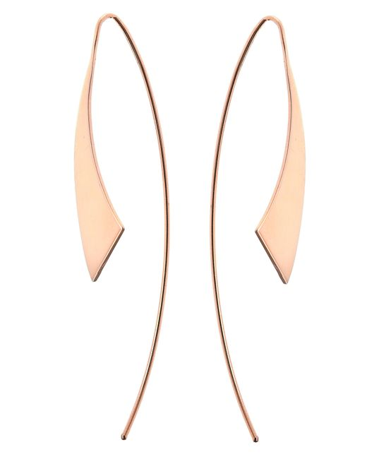 Lana Jewelry - Metallic Gloss Threader Hoop Earrings - Lyst