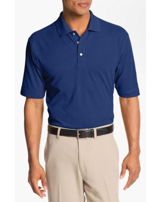Cutter & Buck - Blue 'championship' Drytec Golf Polo for Men - Lyst