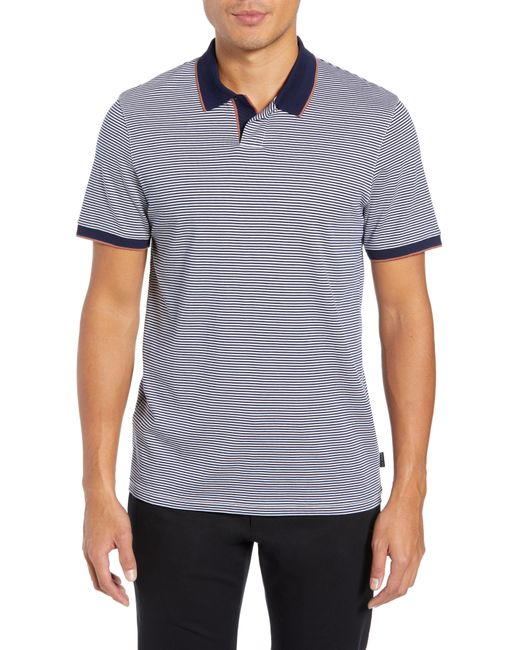 Ted Baker - Blue Gingen Trim Fit Stripe Polo for Men - Lyst