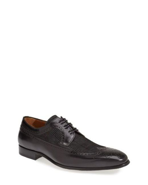 Mezlan   Black 'johann' Spectator Shoe for Men   Lyst