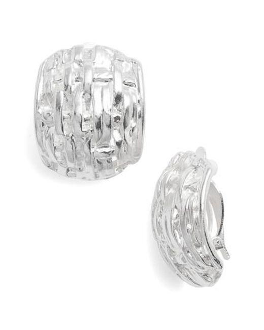 Karine Sultan - Metallic Grace Clip Earrings - Lyst