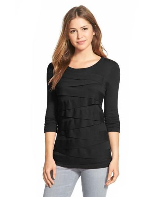 Vince Camuto | Black Zigzag Sweater | Lyst
