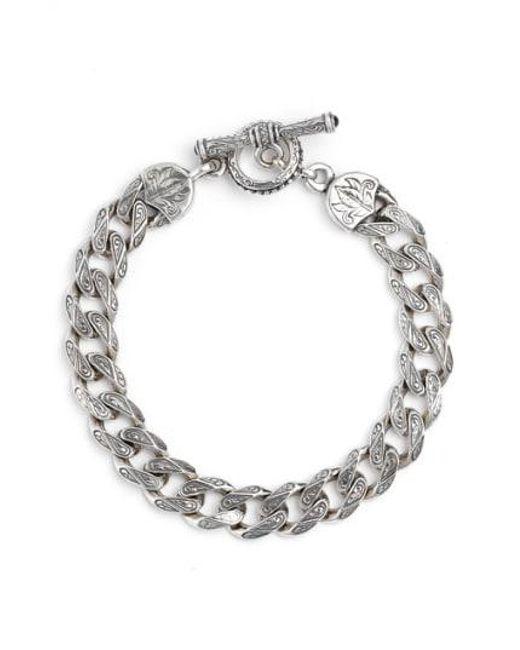 Konstantino - Metallic Silver Classics Etched Link Bracelet - Lyst