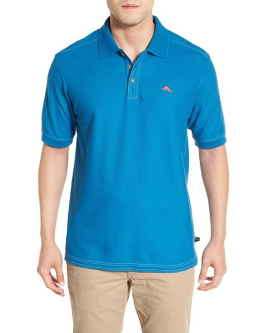 Tommy Bahama 39 The Emfielder 39 Pique Polo In Blue For Men Lyst