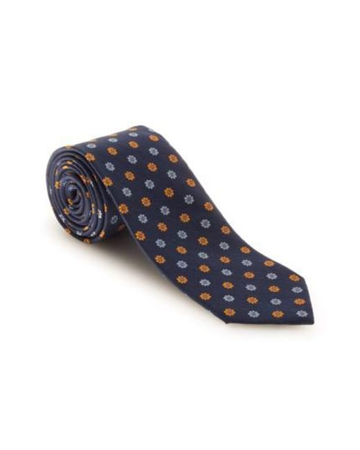 Robert Talbott | Blue Floral Silk & Linen Tie for Men | Lyst