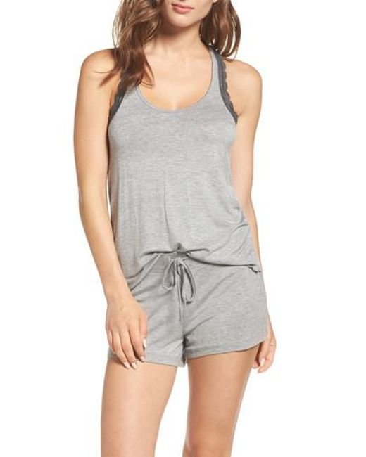 Honeydew Intimates | Gray Lace Trim Short Pajamas | Lyst