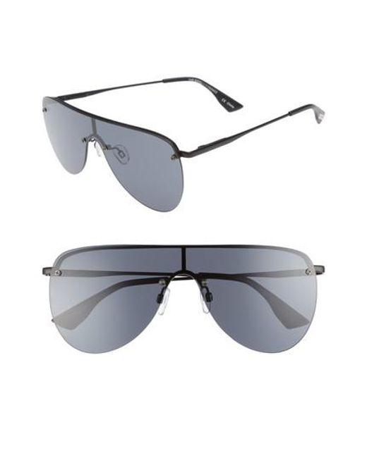 Le Specs   Black The King Shield Sunglasses for Men   Lyst