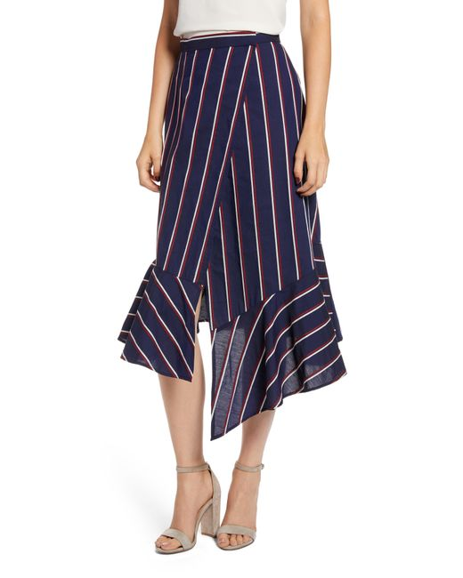 French Connection - Blue Celoa Wrap Skirt - Lyst