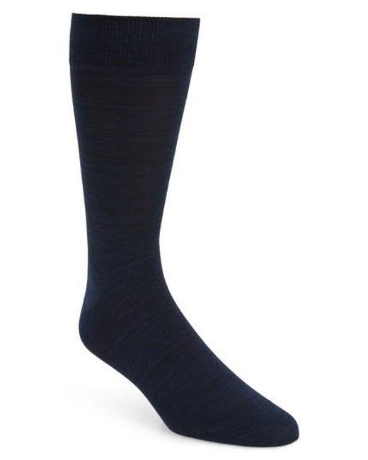 Bugatchi | Blue Solid Socks for Men | Lyst