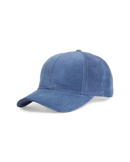 80d2710037f Lyst - Rag   Bone Archie Suede Baseball Cap in Blue for Men