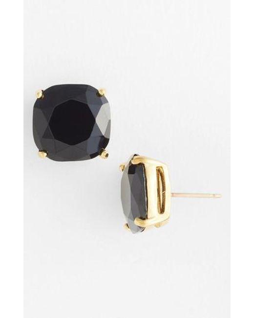 Kate Spade - Black Mini Small Square Stud Earrings - Lyst