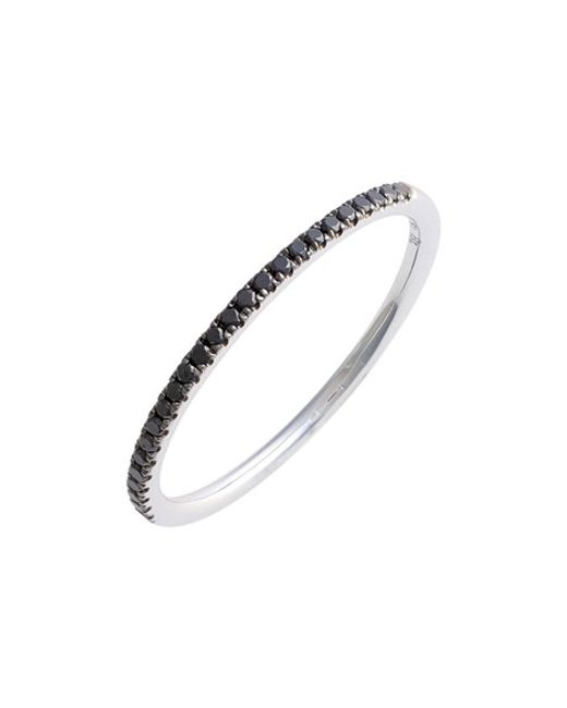 Bony Levy | Black 'stackable' Straight Diamond Band Ring (nordstrom Exclusive) | Lyst