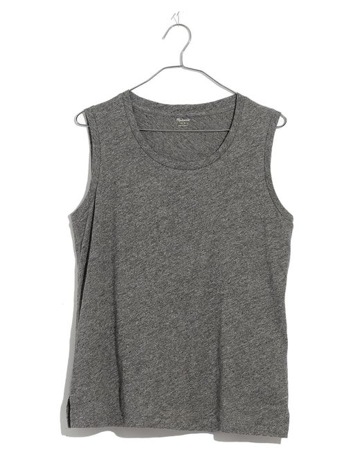 Madewell - Gray Whisper Cotton Crewneck Muscle Tank - Lyst