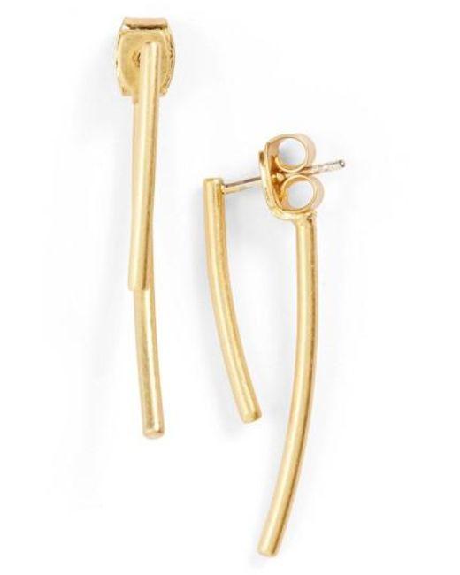 Madewell | Metallic 'stembend' Ear Jackets | Lyst