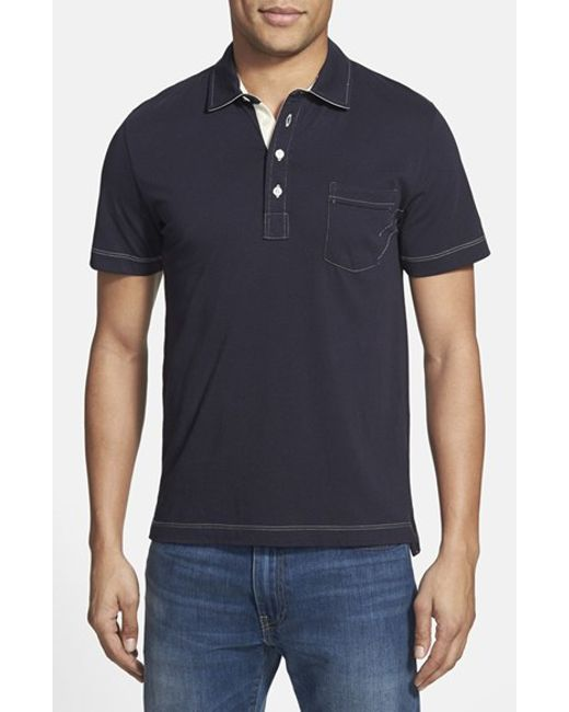 Billy Reid | Blue Pensacola Slim Fit Polo for Men | Lyst