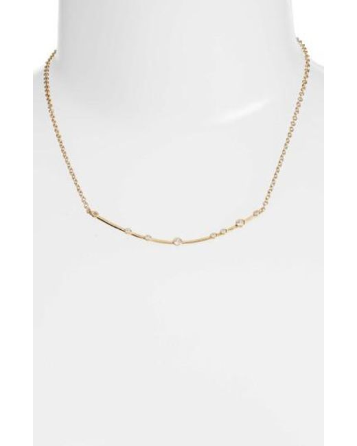 Melinda Maria | Metallic Crescent Necklace | Lyst