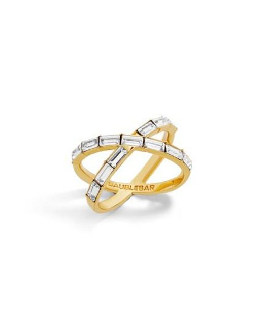 BaubleBar | Metallic Baguette Ring | Lyst