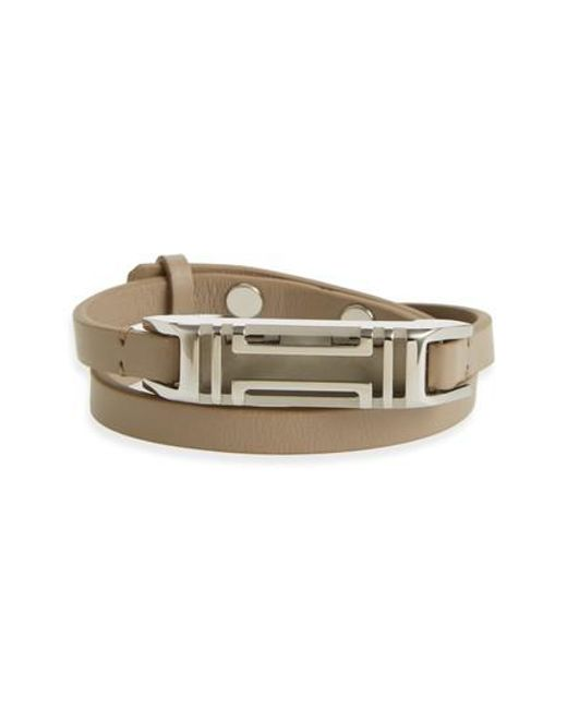 Tory Burch | Metallic For Fitbit Leather Wrap Bracelet | Lyst