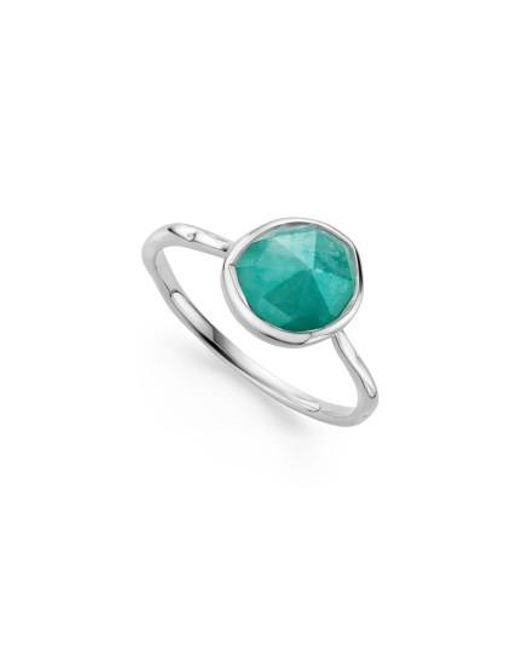 Monica Vinader | Metallic Siren Semiprecious Stone Stacking Ring | Lyst