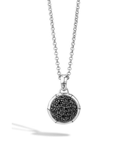 John Hardy   Black 'bamboo' Small Round Pendant Necklace   Lyst