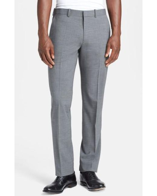 Theory   Gray 'marlo New Tailor' Slim Fit Pants for Men   Lyst