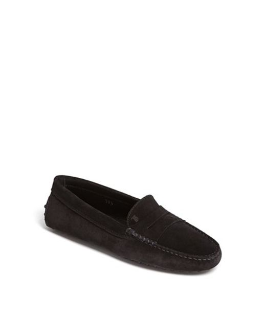 Tod's | Black 'gommini' Driving Moccasin | Lyst