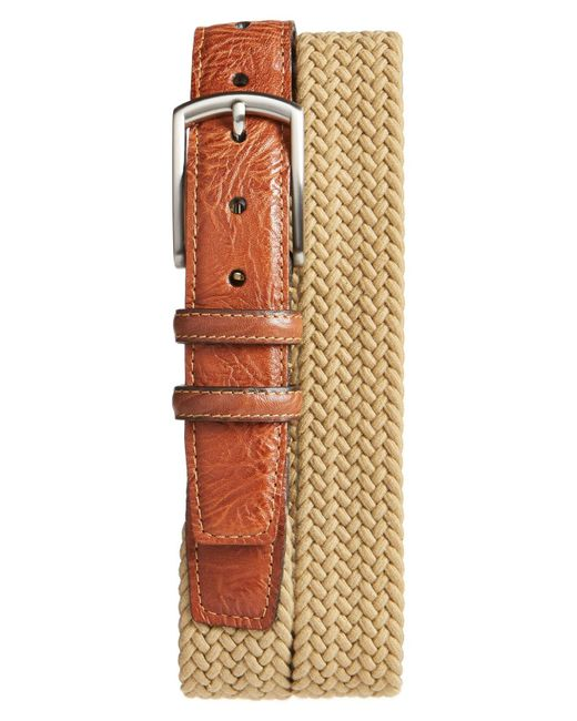 Torino Leather Company - Brown Braided Stretch Cotton Belt for Men - Lyst