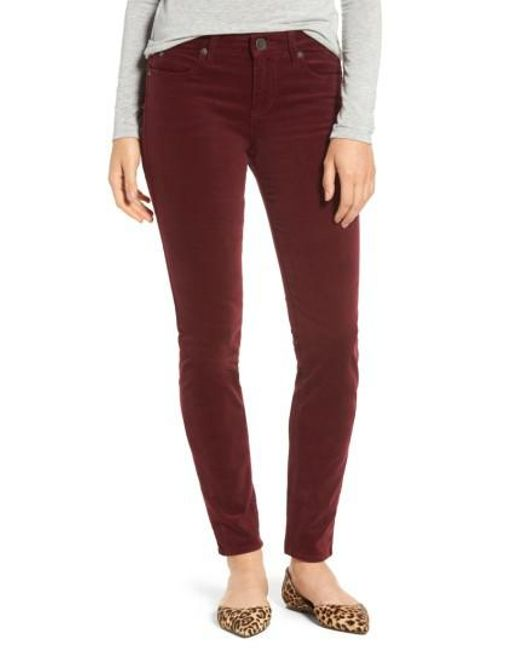 Kut From The Kloth | Red Diana Stretch Corduroy Skinny Pants (petite) | Lyst