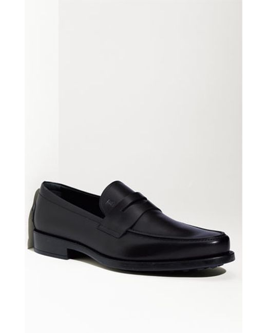 Tod's | Black 'boston' Penny Loafer for Men | Lyst