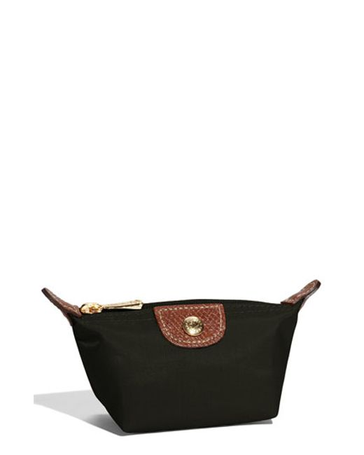 Longchamp | Black 'le Pliage' Coin Purse | Lyst
