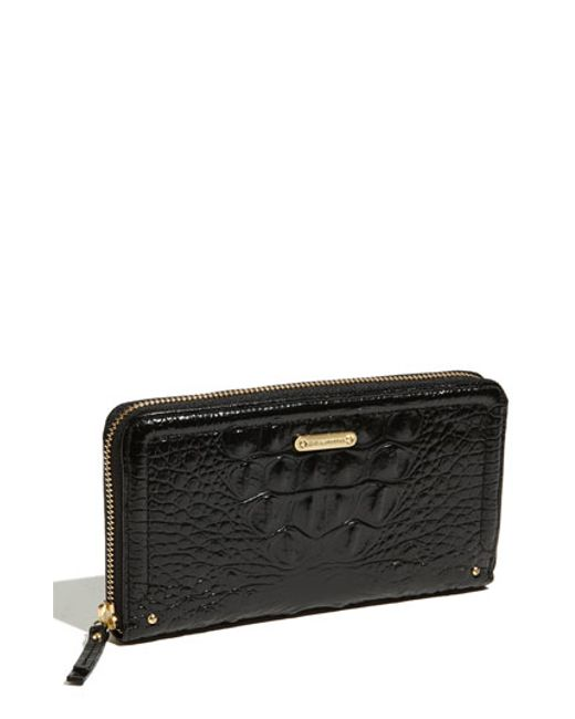 Brahmin | Black 'suri' Zip Around Wallet | Lyst