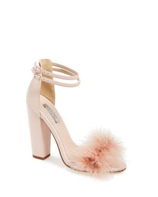 TOPSHOP   Pink 'rebecca' Ankle Strap Sandal   Lyst