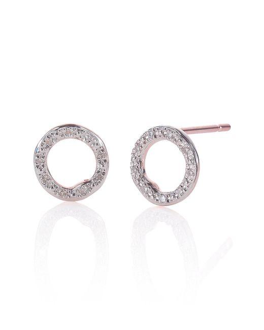Monica Vinader - Metallic 'riva' Circle Stud Diamond Earrings - Lyst