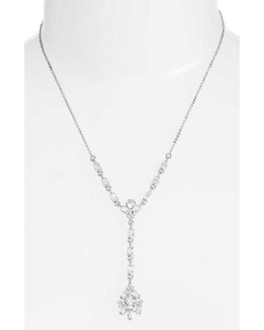 CZ by Kenneth Jay Lane | Metallic Y-necklace | Lyst