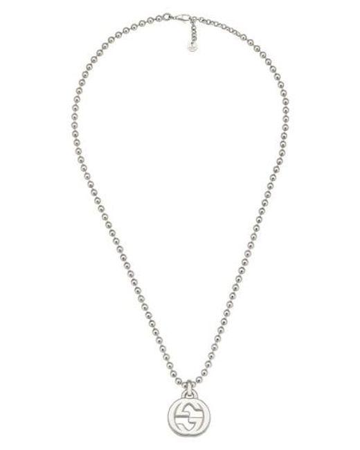 Gucci - Metallic Interlocking-g Necklace - Lyst