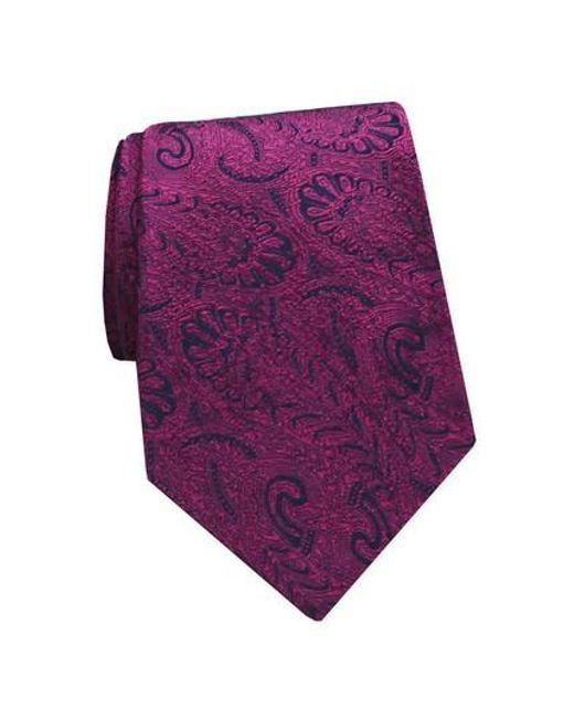 Gitman Brothers Vintage | Purple Paisley Silk Tie for Men | Lyst