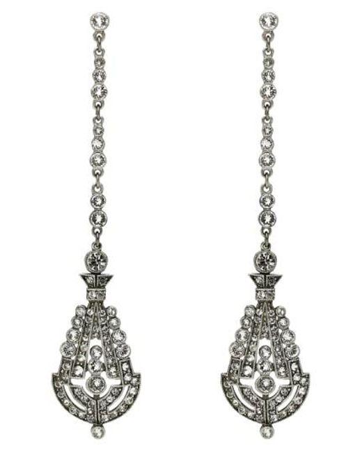 Ben-Amun | Metallic 'deco' Crystal Drop Earrings | Lyst