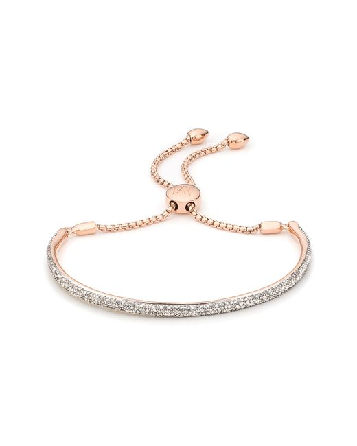 Monica Vinader - Metallic Fiji Diamond Pave Toggle Bracelet - Lyst
