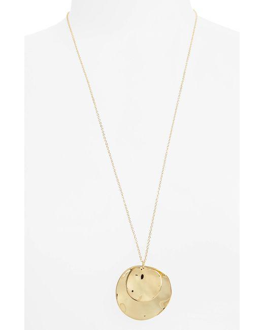 Gorjana - Metallic Chloe Long Cluster Pendant Necklace - Lyst