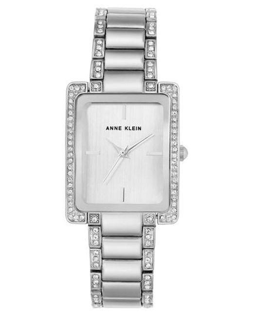 Anne Klein   Metallic Crystal Bracelet Watch   Lyst