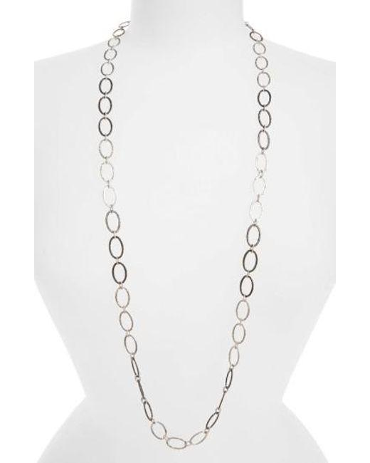 Armenta | Metallic Old World Midnight Oval Link Necklace | Lyst